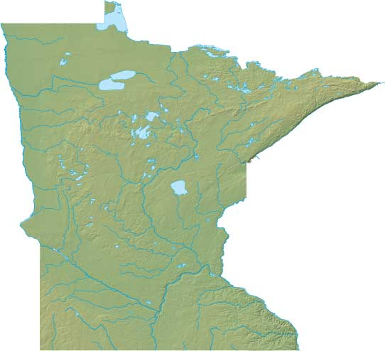 Minnesota relief map